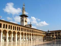 Siria Damasco: interno moschea degli Omayyadi
